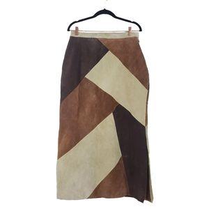 NWT Jessica Holbrook Easycare Suede Maxi Skirt L